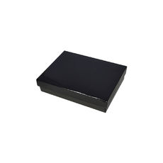 Slim Line Jewellery Box Medium - Gloss Black  (Separate Base and Lid)