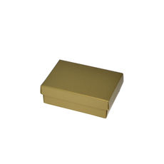 Slim Line Jewellery Box Medium - Gloss Gold  (Separate Base and Lid) - Paperboard