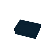 Slim Line Jewellery Box Medium - Matt Navy Blue  (Separate Base and Lid)
