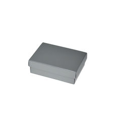 Slim Line Jewellery Box Medium - Gloss Silver  (Separate Base and Lid)