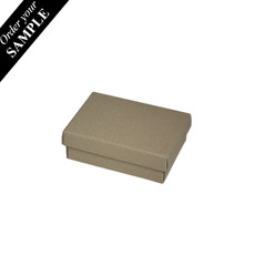 SAMPLE - Slim Line Jewellery Box Medium - Recycled Brown (Brown Inside) (Separate Base and Lid)