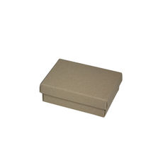 Medium Slim Line Jewellery Box - Recycled Brown Paperboard (285gsm) (Base & Lid)
