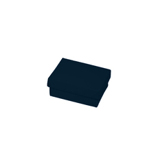 Slim Line Jewellery Box Small - Matt Navy Blue  (Separate Base and Lid)