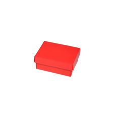 NOW $1.00ea - 125 x Slim Line Jewellery Box Small - Gloss Red (White Inside)