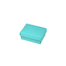 NOW $1.00ea - 165 x Slim Line Jewellery Box Small - Matt Blue (White Inside)
