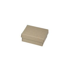Small Slim Line Jewellery Box - Recycled Brown Paperboard (285gsm)