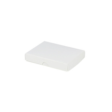 Slim Line Jewellery Box Large - White  (Separate Base and Lid)