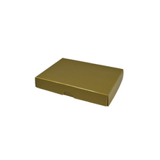 Slim Line Jewellery Box Large - Gloss Gold  (Separate Base and Lid)