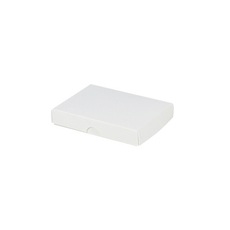Slim Line Jewellery Box Large - Gloss White  (Separate Base and Lid) - Paperboard