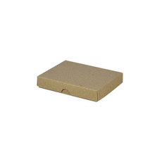 Slim Line Jewellery Box Large - Recycled Brown (Brown Inside) (Separate Base and Lid) - Paperboard