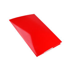 A4 Folder with Business Card Holder - Gloss Red