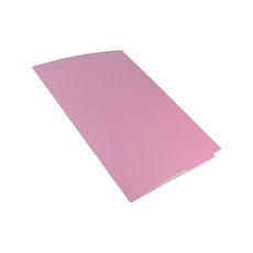 A4 Folder with Business Card Holder - Matt Pink