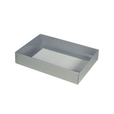 Slim Line C6 Gift Box - Gloss Silver with Clear Lid