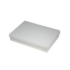 Slim Line C6 Gift Box - Gloss White  - Paperboard Base and Paperboard Lid