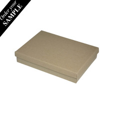 SAMPLE - Slim Line C6 Gift Box - Recycled Brown (Brown Inside) - Paperboard Base and Paperboard Lid