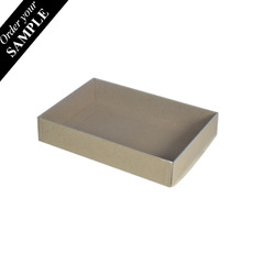 SAMPLE - Slim Line C6 Gift Box with Clear Lid - Recycled Brown Paperboard (285gsm) (Base & Clear Lid)