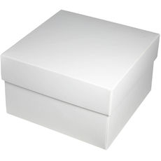 Square Large Gift Box - Gloss White Paperboard (285gsm) (Base & Lid)