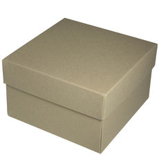 Square Large Gift Box - Recycled Brown (Brown Inside)