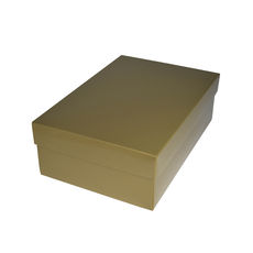 Shoe Gift Box - Gloss Gold (Separate Base & Lid)