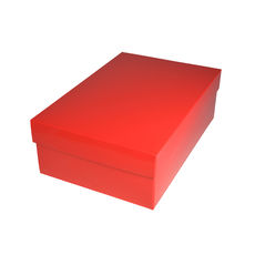 Shoe Gift Box - Gloss Red (Separate Base & Lid)