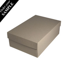 SAMPLE - Shoe Gift Box - Recycled Brown (Brown Inside) (Separate Base & Lid) - Paperboard