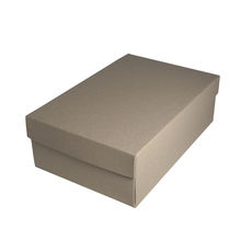 Shoe Gift Box - Recycled Brown (Brown Inside) (Separate Base & Lid)