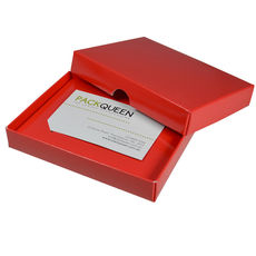 Gift Voucher Box - Gloss Red (Base, Lid & Insert) - Paperboard - Temp out of Stock