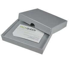Gift Voucher Box - Gloss Silver (White Inside)