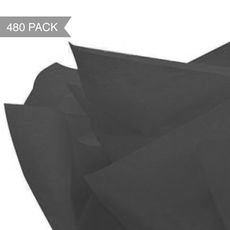 Black Tissue Paper - 500 x 760mm (Bulk 480 Sheets)