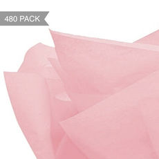 Soft Pink Tissue Paper - 500 x 760mm (Bulk 480 Sheets)
