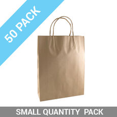 50 PACK - Brown Kraft Paper Gift Bag Small