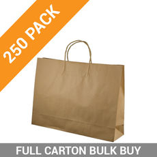 Brown Kraft Paper Gift Bag Midi Boutique - 250PK