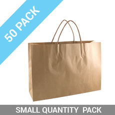 50 PACK - Brown Kraft Paper Gift Bag Small Boutique