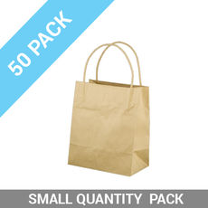 50 PACK - Brown Kraft Paper Bag Toddler