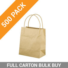 Brown Kraft Paper Gift Bag Toddler - 500PK
