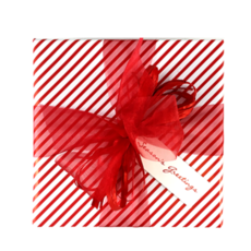Red Candy Stripe - Wrapping Paper - 500mm x 60metres