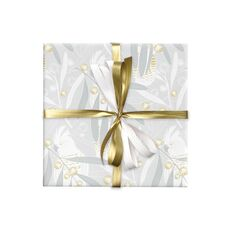 Cockatoo Wattle Wrap Silver/Gold Wrapping Paper- 500mm x 50metres