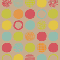 Party Dots Bright - Wrapping Paper - 500mm x 50metres