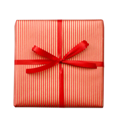 Red Gold Dress Stripe - Wrapping Paper - 500mm x 60metres
