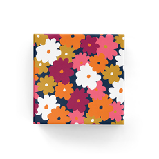Vintage Flowers Wrap Navy Wrapping Paper - 500mm x 50metres