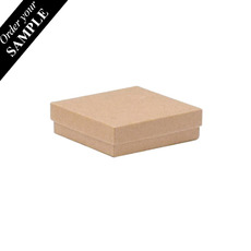 SAMPLE - Cotton Fill Box Long - Kraft Brown 132 x 95 x 25mm