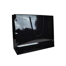 Black Gloss - European Gloss Laminated Gift Bag - Extra large - 50 PACK