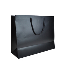 TEMP OUT OF STOCK UNITL JUNE - Matt Black - European Matt Laminated Gift Bag - Extra Large - 50 PACK