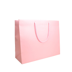 Matt Pastel Pink - European Matt Laminated Gift Bag - Large - 50 Pack