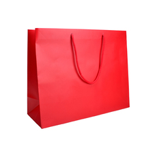 Matt Red - European Matt Laminated Gift Bag - Large - 50 Pack