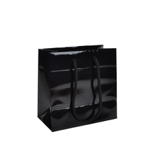 Black Gloss - European Gloss Laminated Gift Bag - Extra Small  - 200 PACK