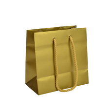 Matt Metallic Gold - European Matt Laminated Gift Bag - Extra Small  - 200 PACK