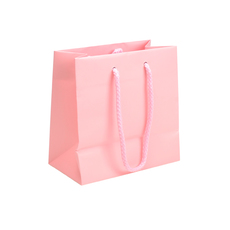 Matt Pastel Pink - European Matt Laminated Gift Bag - Extra Small  - 200 PACK