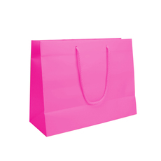 Hot Pink - European Matt Laminated Gift Bag - Medium (100PK)