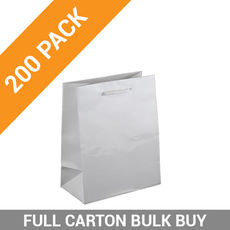 Gloss White Paper Gift Bag Baby - 200PK